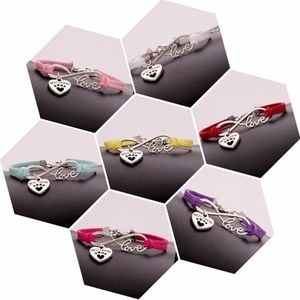 Jewelry - Pet Paw Best Friend Infinity Mint Leather Bracelet